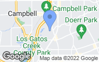 Map of Campbell, CA