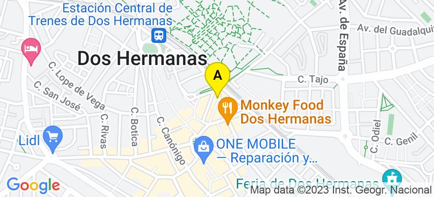 situacion en el mapa de . Direccion: Nuestra Señora del Carmen s/n, 41701 Dos Hermanas. Sevilla