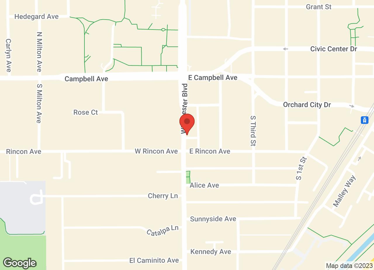Google Map of VCA Winchester Animal Hospital