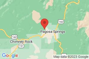 Map of Pagosa Springs