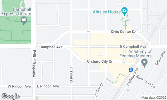 Map of Campbell Brewing Company at 200 E Campbell Ave Campbell, CA