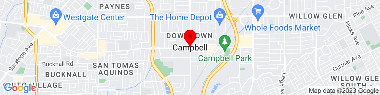 Google Map of 37.2871651, -121.9499568