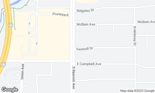 Map of Taco Bravo at 1950 S Bascom Ave Campbell, CA