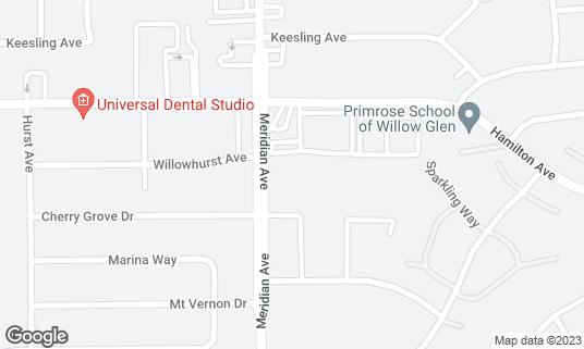 Map of Dry Creek Grill at 1580 Hamilton Ave San Jose, CA