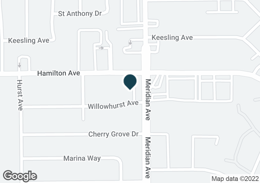 Google Map of1615 MERIDIAN AVE