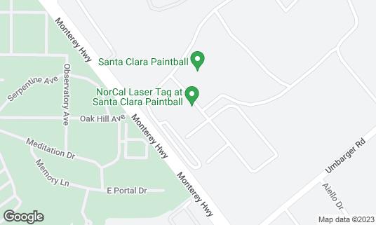 Map of Santa Clara Paintball at 2542 Monterey Rd San Jose, CA