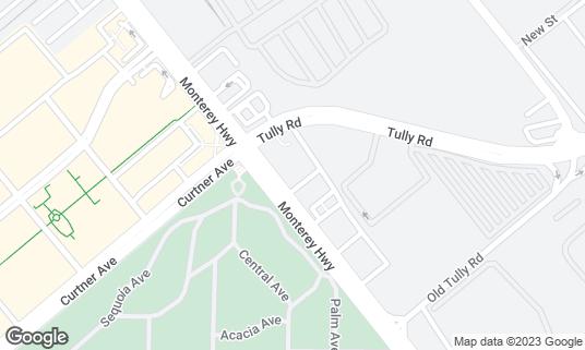 Map of Agave Restaurant & Bar at 2270 Monterey Hwy San Jose, CA