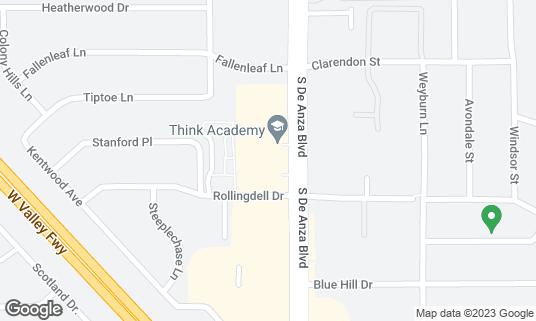 Map of Britannia Arms at 1087 S De Anza Blvd San Jose, CA