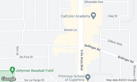 Map of Ajito Izakaya at 7335 Bollinger Rd # C1 Cupertino, CA