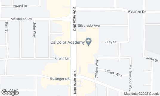 Map of Aqui Cal-Mex at 10630 S De Anza Blvd Cupertino, CA