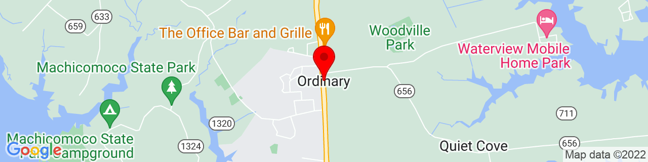 Google Map of 37.3154206, -76.513284