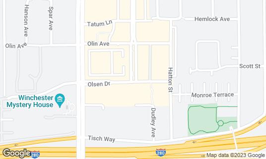 Map of El Jardín at 368 Santana Row Suites 1050 1060 1070 San Jose, CA