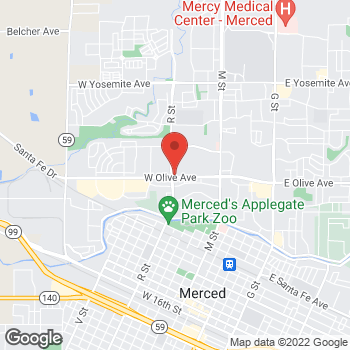 Map of Panera Bread at 3110 R Street, Merced, California 95348
