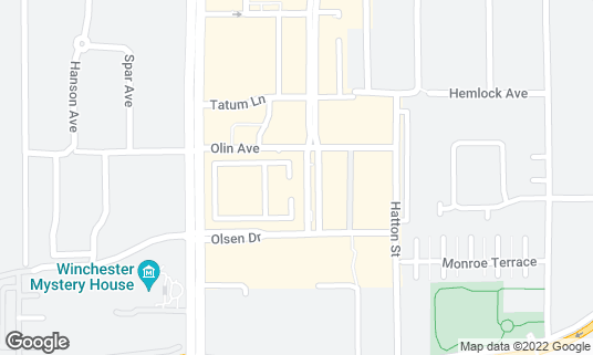 Map of SINO at 377 Santana Row Ste 1000 San Jose, CA