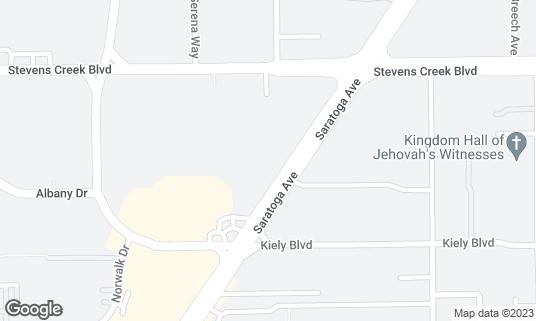 Map of Bar Bay Grill at 375 Saratoga Ave San Jose, CA