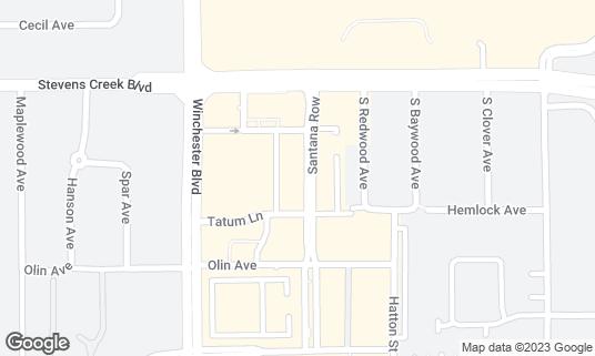 Map of Cocola Bakery at 333 Santana Row Ste 1045 San Jose, CA