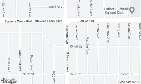Map of 7 Stars Bar & Grill at 398 S Bascom Ave San Jose, CA