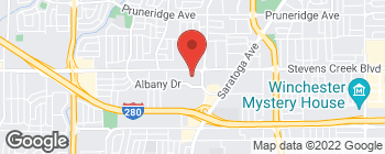 Map of 4202 Stevens Creek Blvd in San Jose