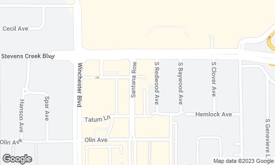 Map of LB Steak at 334 Santana Row Ste 1000 San Jose, CA