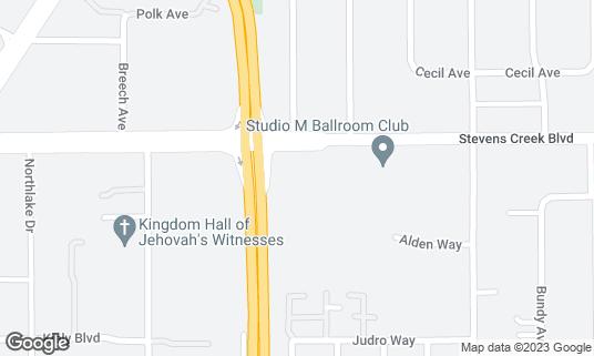 Map of Barnes & Noble at 3600 Stevens Creek Blvd San Jose, CA