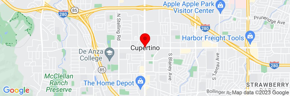 Google Map of 37.322997777778,-122.03218222222