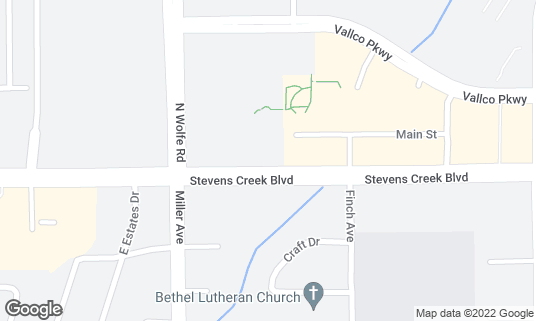 Map of Cafe Lattea at 19501 Stevens Creek Blvd Cupertino, CA