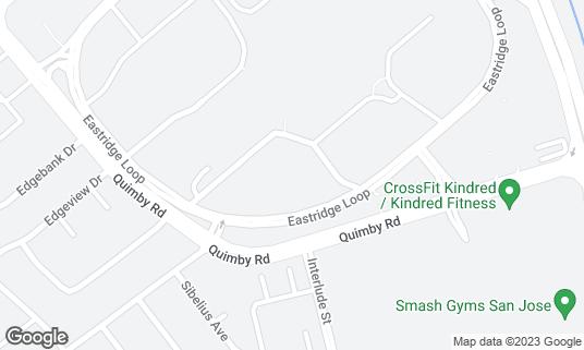Map of AMC Eastridge 15 at 2190 Eastridge Loop San Jose, CA