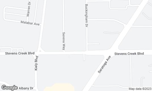 Map of Voyager Craft Coffee at 3985 Stevens Creek Blvd Santa Clara, CA