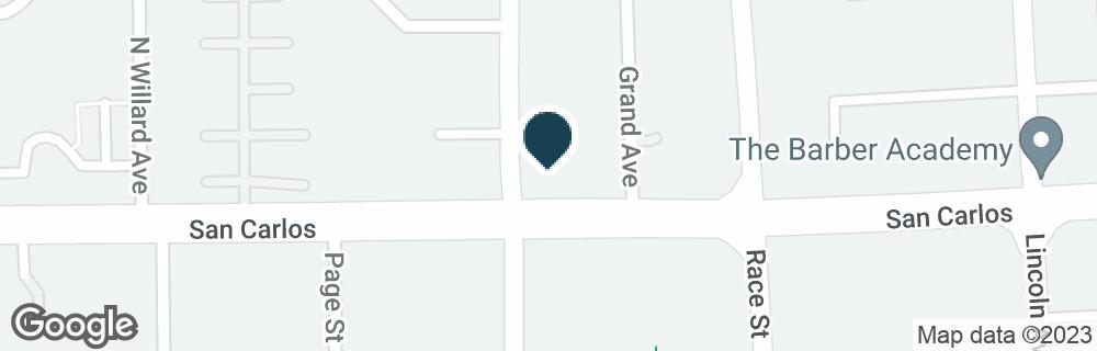 Google Map of1399 W SAN CARLOS ST