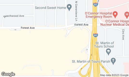 Map of California Pizza Kitchen at 2855 Stevens Creek Blvd Ste 1273 Santa Clara, CA