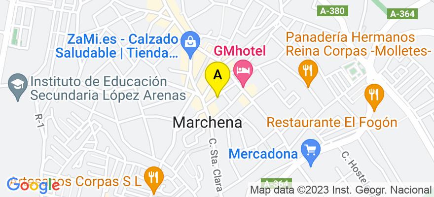 situacion en el mapa de . Direccion: C/Menéndez Pelayo, 7, 41620 Marchena. Sevilla