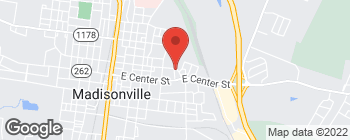 Map of 614 E Arch St in Madisonville