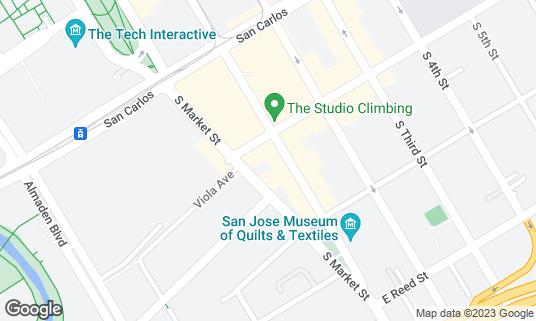 Map of Miami Beach Club at 417 S 1st St San Jose, CA