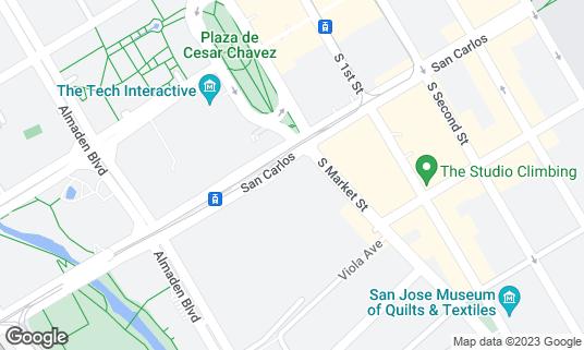 Map of Arcadia at 100 W San Carlos St San Jose, CA