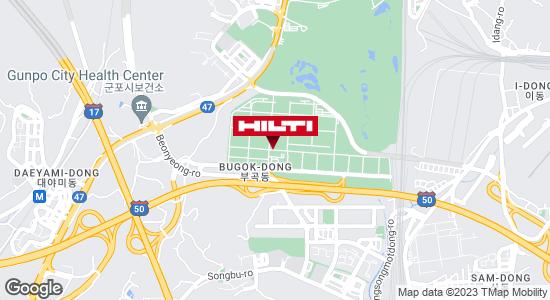 Get directions to 군포부곡451나