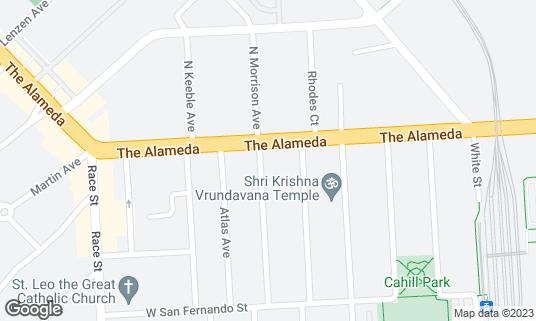 Map of Crema Coffee Roasting Company at 950 The Alameda San Jose, CA