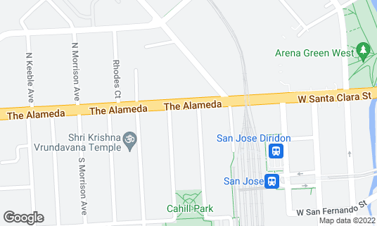 Map of Bluefin at 754 The Alameda San Jose, CA