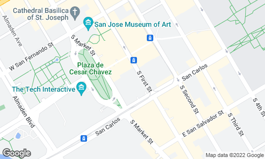 Map of Mosaic Restaurant and Lounge at 211 S 1st St San Jose, CA