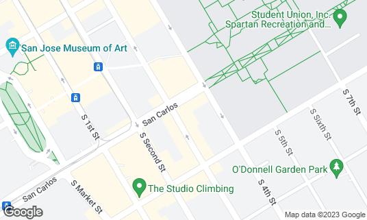 Map of Boba Bar Teahouse & Eatery at 310 S 3rd St San Jose, CA