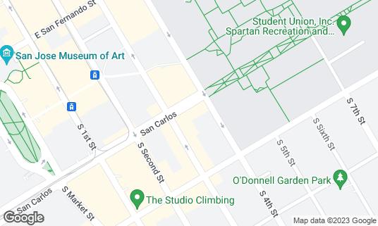 Map of La Victoria Taqueria at 140 E San Carlos St San Jose, CA