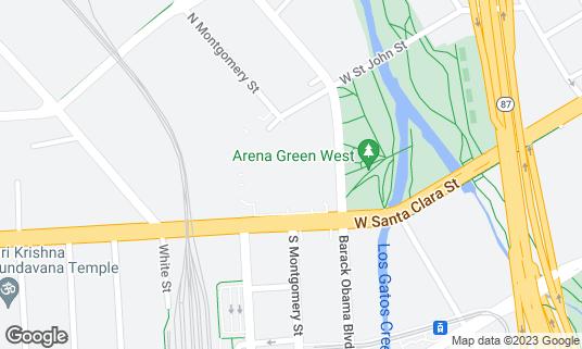 Map of SAP Center at 525 W Santa Clara St San Jose, CA