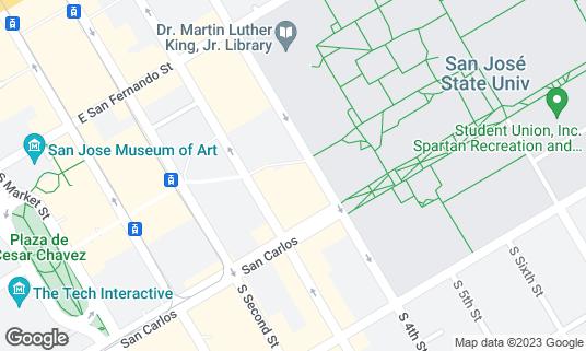 Map of Philz Coffee at 118 Paseo de San Antonio San Jose, CA