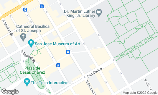 Map of Hammer Theater Center at 101 Paseo de San Antonio San Jose, CA