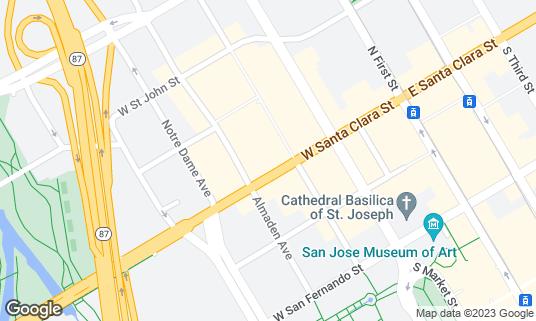 Map of AFK Gamer Lounge at 163 W Santa Clara St San Jose, CA
