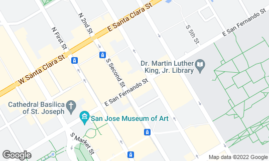 Map of Deluxe at 71 E San Fernando St San Jose, CA