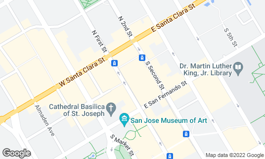 Map of The Temple Bar and Lounge at 52 S 1st St San Jose, CA