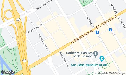 Map of O'Flaherty's Irish Pub at 25 N San Pedro St San Jose, CA