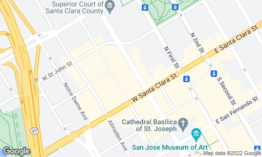 Map of Sushi Confidential at 31 N Market St San Jose, CA