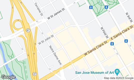 Map of SP2 Communal Bar + Restaurant at 72 N Almaden Ave San Jose, CA