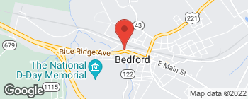 Map of 402 W Main St in Bedford